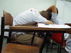 DSPS Sleep Disorder Sleeping Student in Classroom