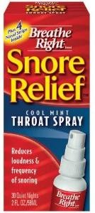 Snoring throat sprays breathe right