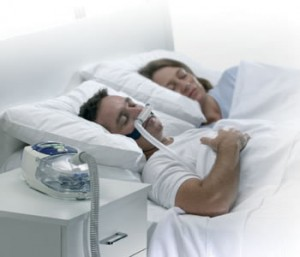 CPAP being used by a man