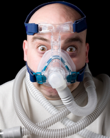 frustrated cpap patient