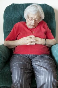 Dementia can Result from Central Sleep Apnea old woman sleeping on couch