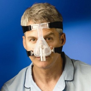 Novel Therapy Can it Cure Central Sleep Apnea man wearing CPAP mask