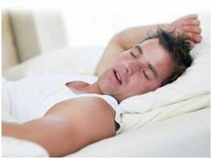 Signs of Deep Sleep – Man in deep peaceful sleep.