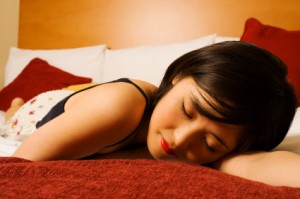Lifestyle Changes to Help Alleviate Circadian Rhythm Disorders girl sleeping comfortably
