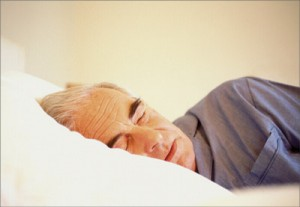 The Prevalence of Advanced Sleep Phase Syndrome on Older People old man sleeping